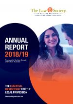 Cover 2018-19 Law Society Annual Report